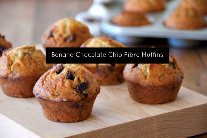 Banana Chocolate Chip Fibre Muffins