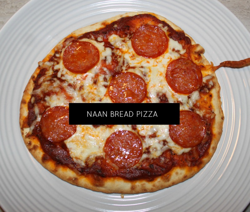 Naan bread pizza